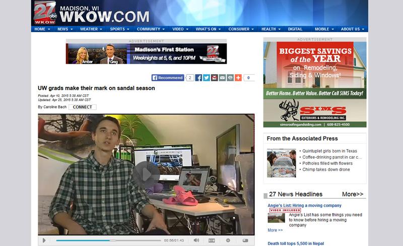 Bokos | Press Features | WKOW | Bokos Sandals on WKOW